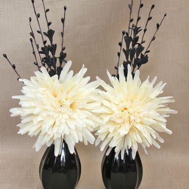Cream Fake and Artificial Floral Arrangements