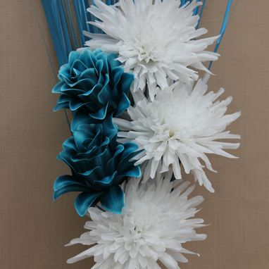 Blue Fake or artificial flowers and floral arrangements