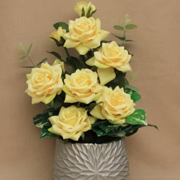 Yellow Fake or artificial flowers and floral arrangements