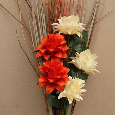 Orange Fake or artificial flowers and floral arrangements